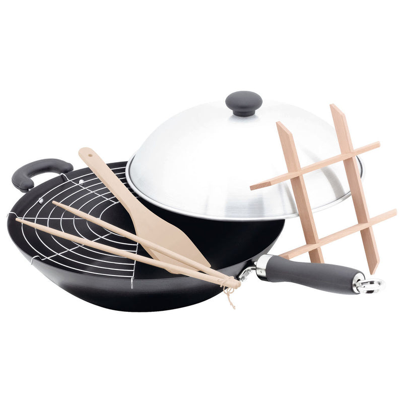 Judge 6 Piece Non-Stick Wok Set