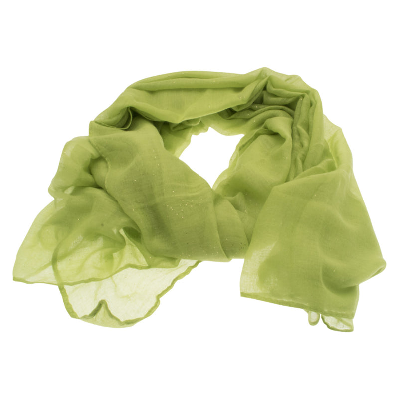 Lime Green Sparkle Scarf