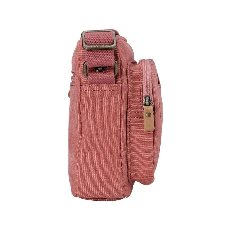 Troop Classic Canvas Medium Cross Body Bag Pink