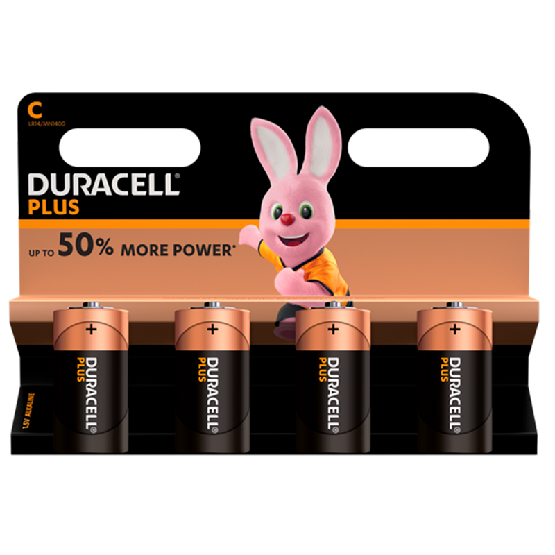 Duracell MN1400  C Power Plus Pack of 4