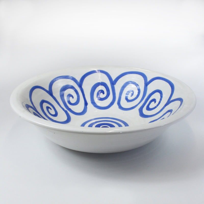 Large Blue Pattern Bowl