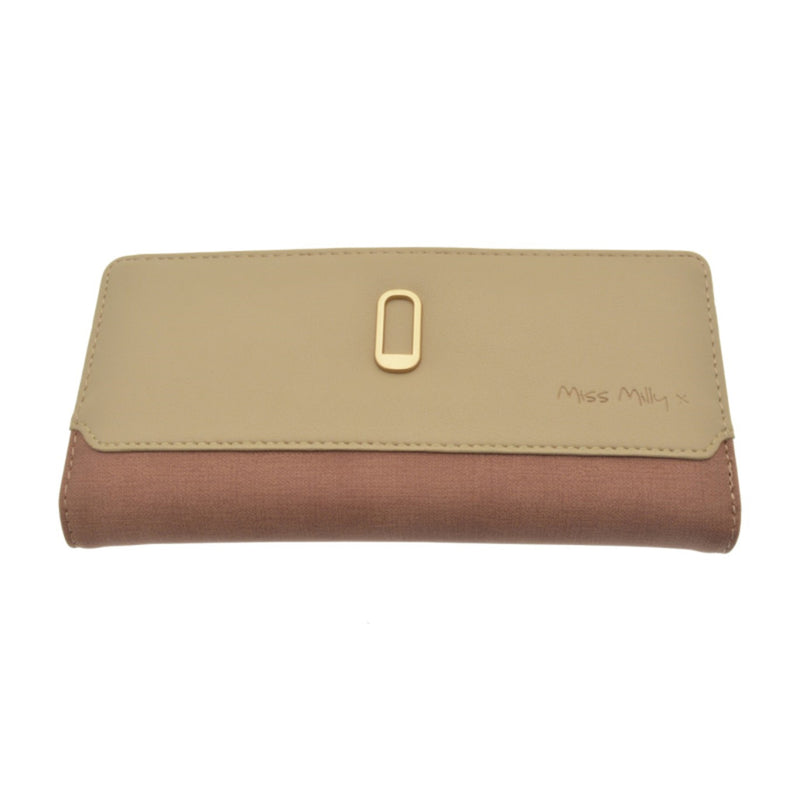 Miss Milly Dark Pinkand Taupe O Purse