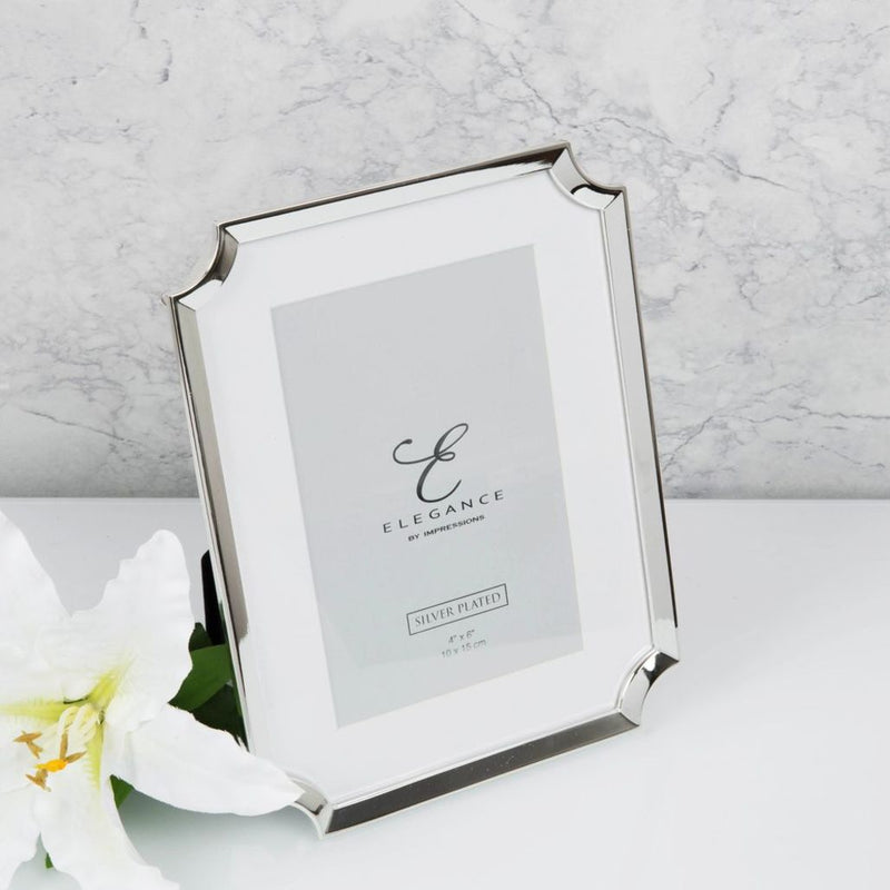Elegance Silver Plated Scollop Edge 5x7 Photo Frame