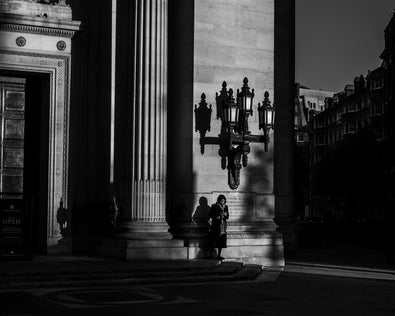 Black and White Fine Art Photography Print by British-Malaysian Photographer, Yasmin Centeno showing gorgeous displays of light and shadow.