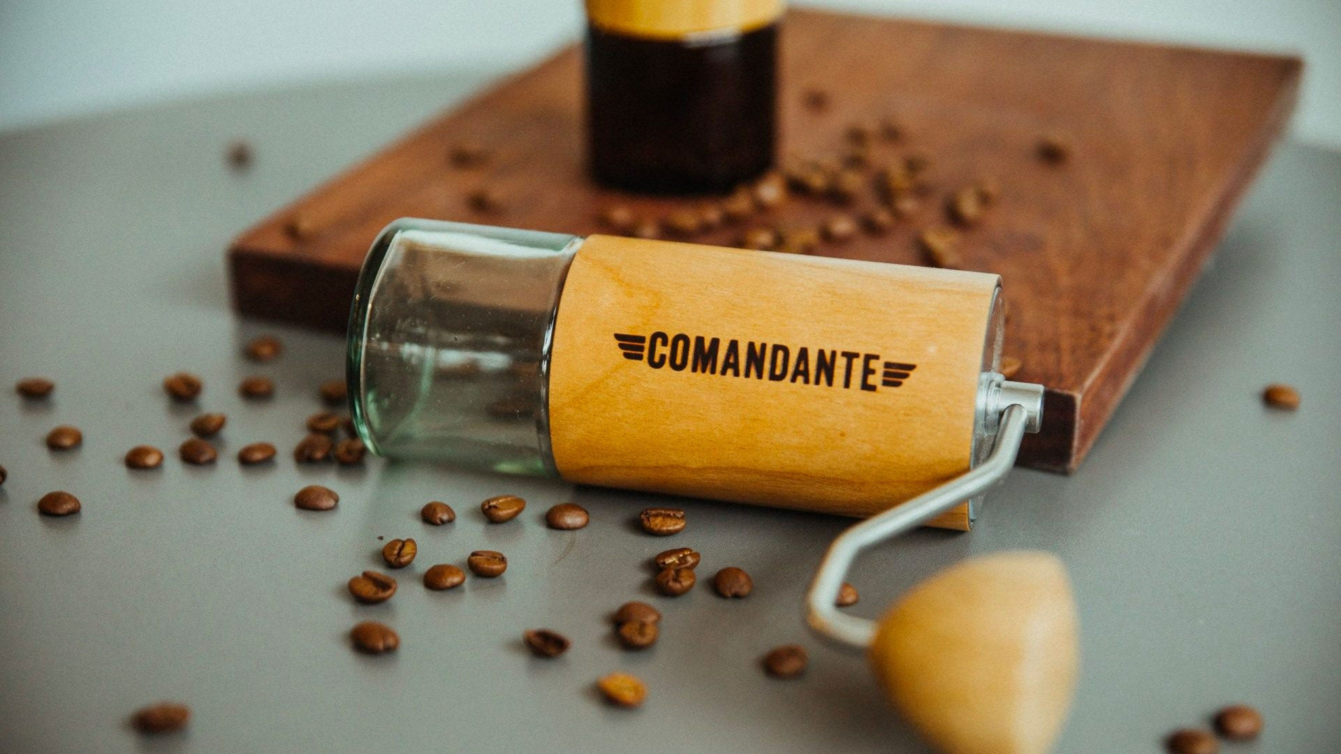 Comandante Grinder C40 Nitro Blade photographed at The Espresso Lab Roastery