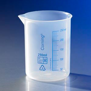 Reusable Plastic Low Form 150mL Beaker, Polypropyl