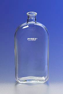 PYREX 1L Roux Culture Bottles with Offset Tooled N