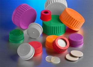 GL45 Green Polypropylene Screw Cap with Plug Seal