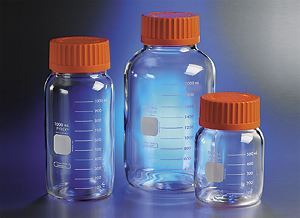 PYREX 500mL Round Wide Mouth Media Storage Bottles