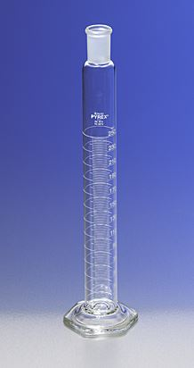 PYREX 250mL Single Metric Scale Cylinders, 24/40 S