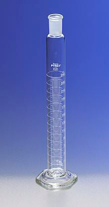 PYREX 50mL Single Metric Scale Cylinders, 24/40 St
