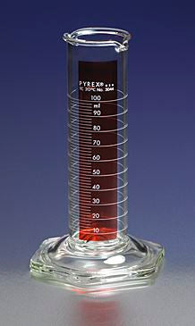 PYREX 50mL Low Form Single Metric Scale Cylinders,