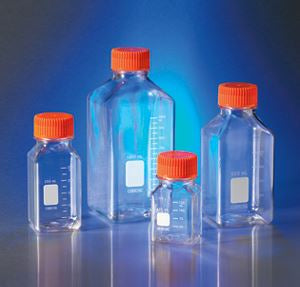 431530 125mL Square PET Storage Bottles with 45mm Caps