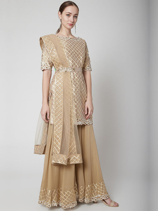 Nude Sharara Suit