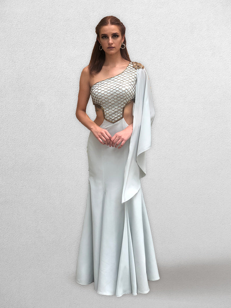 English Blue Fishcut hawing Gown