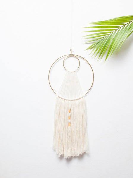 Short Threaded Wall Hanging