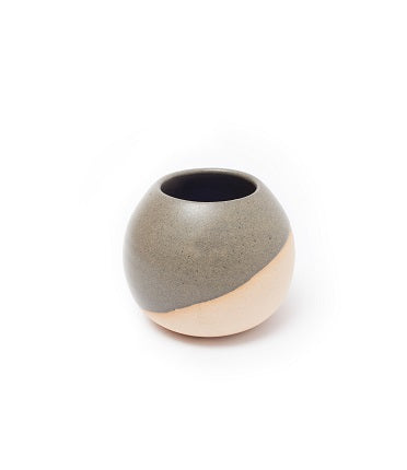 Black and Natural Ceramic Vase - Small