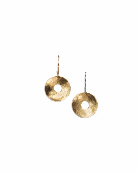 Earrings - Scarlett Tamaa Brass Circle Earrings