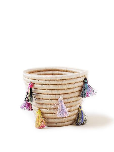 Home Goods - Mini Eyelash Tassel Basket