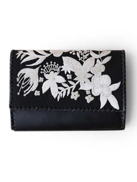 Accessories - Dama Clutch - Hand Embroidered Clutch With White Beading