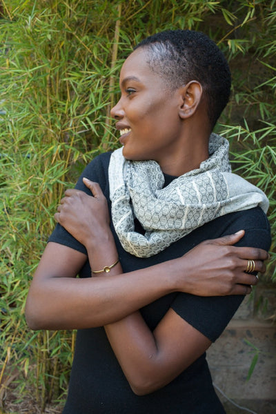 Hand Woven Scarf - Black