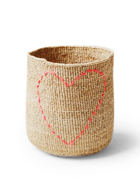 Home Goods - Stitched Banana Heart Basket