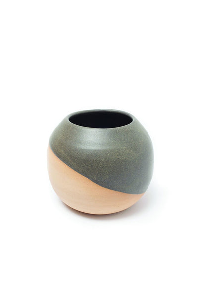 Black and Natural Ceramic Vase - Large