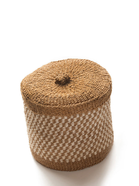Home Goods - Medium Woven Lidded Basket