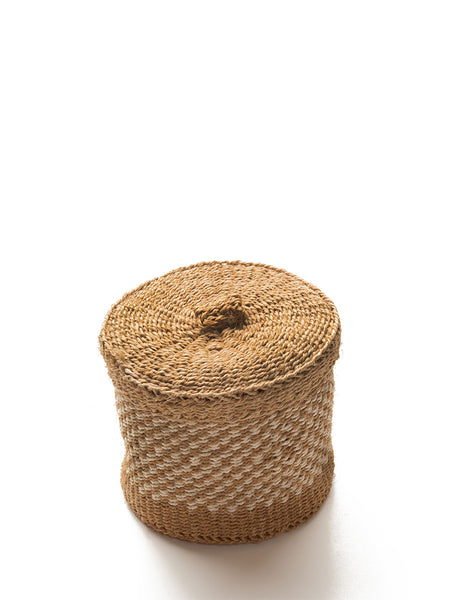 Home Goods - Small Woven Lidded Basket
