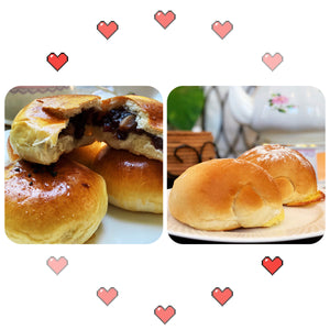 Bread Combo V Red Bean Paste (2pcs) + Coconut Shreds (2pcs)