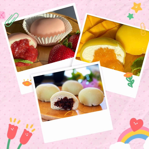 Assorted Mochi (Strawberry, Mango, Mocha with red bean paste