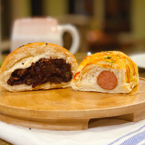 Bread Combo I Beef Sausage (2pcs) + Red Bean Paste(2pcs)