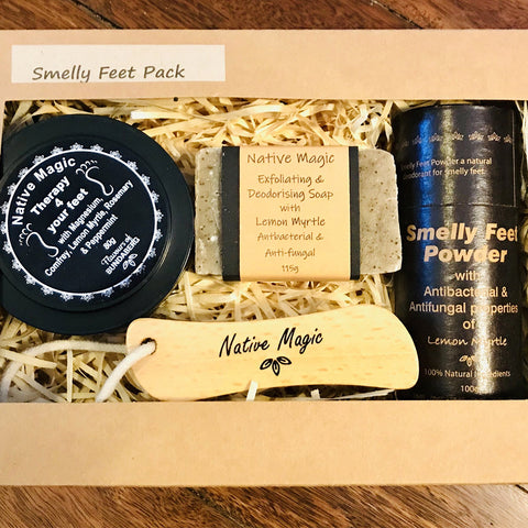 Lemon Myrtle Smelly Feet - Gift Box with Foot Rub