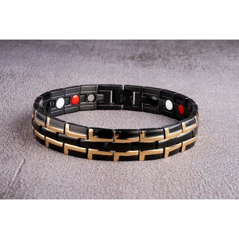 """Black Gold"" Stainless Steel - Magnetic Bracelet Series"