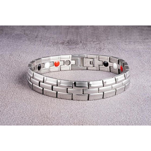 """Silver"" Stainless Steel - Magnetic Bracelet Series"