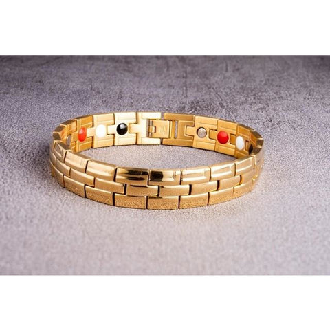 """Gold"" Stainless Steel - Magnetic Bracelet Series"