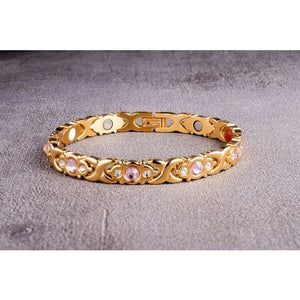 """Gold Tender"" Stainless Steel - Magnetic Bracelet Series"