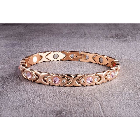 """Rose Gold Tender"" Stainless Steel - Magnetic Bracelet Series"