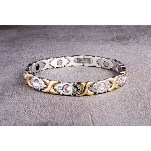 """Golden Silver Tender"" Stainless Steel - Magnetic Bracelet Series"