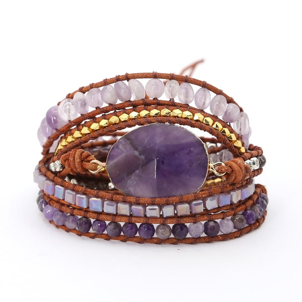 """Ultra Violet"" Natural Stone Bracelet Series"