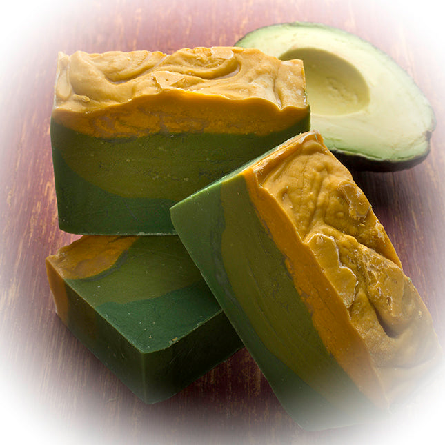 Avocado Soap (4Oz) - with Jasmine Essential Oils and fresh Avocado slurry