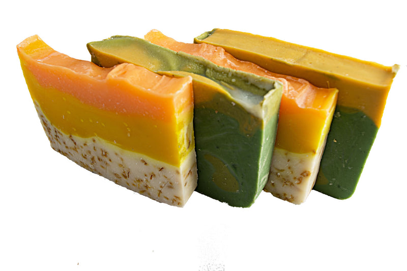 Citrus Soap Collection - 4(Four) 2Oz Guest Bars, Sample Size Soap -Orange Calendula and Avocado Soaps