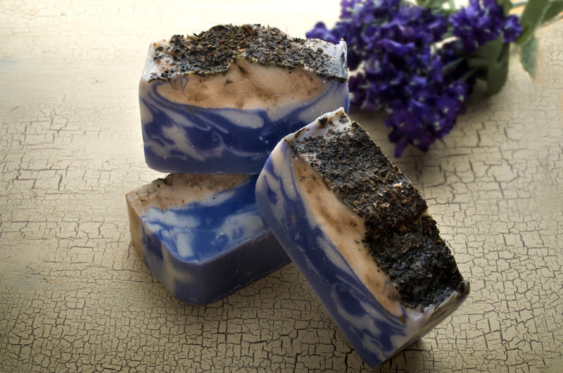 Lavender Soap Bar (4Oz) with dried Lavender and Lavender essential Oil