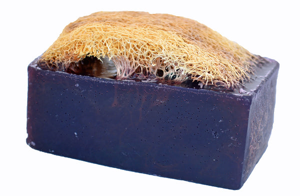 Luffa Soap Bar (4.5oz) - Lavender - Exfoliating Soap, Handmade Glycerin soap