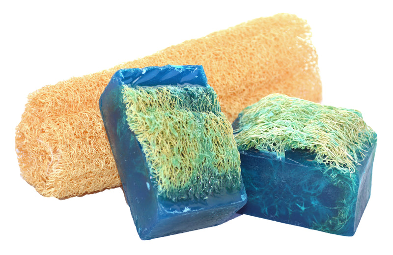 Luffa Soap Bar (4.5oz) - Love Spell - Exfoliating Soap, Handmade Glycerin soap
