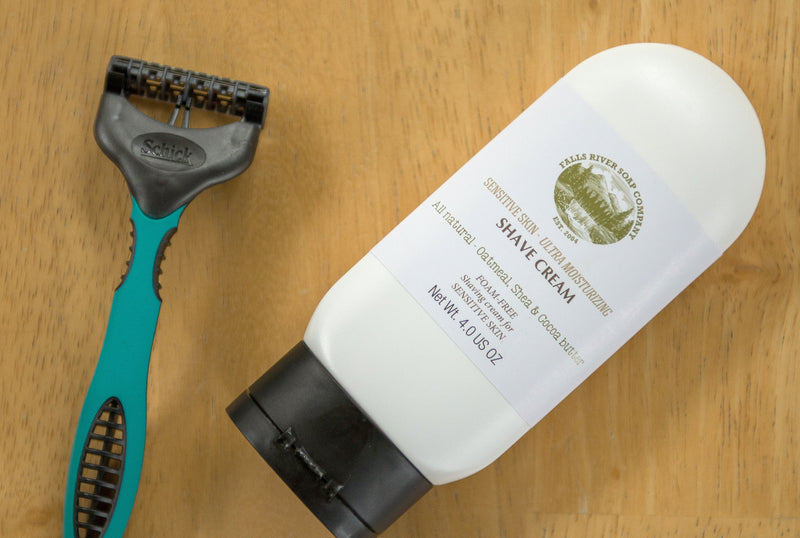 Sensitive Skin, Foam-Free All Natural Shaving Cream (4 FL OZ) with Oatmeal & Aloe Vera