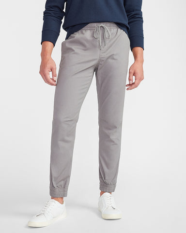 Woven Jogger Pant in Crystal Gray