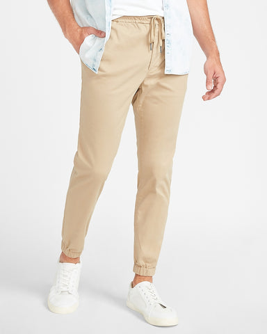 Temp Control Hyper Stretch Woven Joggers in Vintage Chino