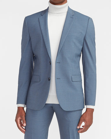 Extra Slim Dusty Blue Modern Tech Suit Jacket in Dusty Blue