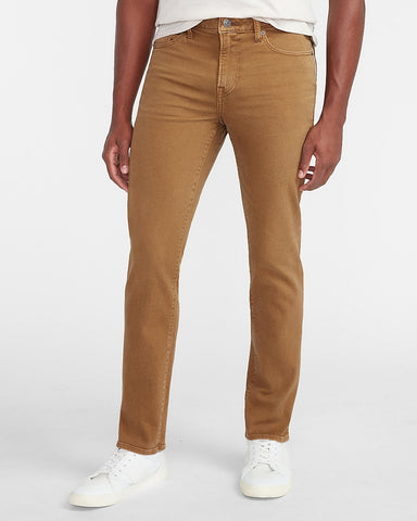 Slim Dark Khaki Hyper Stretch Jeans in Khaki